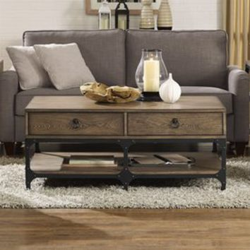 Shop Crosley Furniture Trenton Rustic Ash Coffee Table at Lowes.com