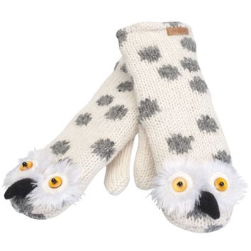 Olly The Owl Knit Mittens