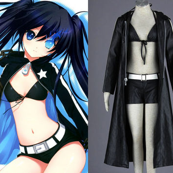 Miku Hatsune Black Rock Shooter Custom, Miku Cosplay Costume from Vocalo
