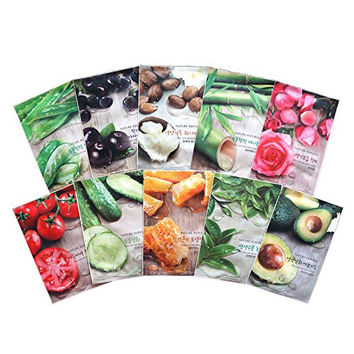 Real Nature Mask Sheet 30pcs Lot Facial Skincare Original Korean Mask Sheet