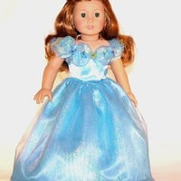 New Cinderella Princess Dress for American Girl and other 18 Inch Dolls