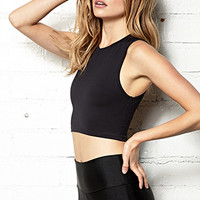 FOREVER 21 Active Crop Top Black