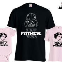 Father Daughter Matching Shirts Best Dad Ever T Shirt Daddys Little Princess Baby Bodysuit First Fathers Day Gift From Daughter MD-427E