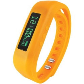 Supersonic Bluetooth Smart Wristband Fitness Tracker (orange) (pack of 1 Ea)