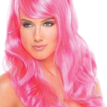 BW095HP Burlesque Wig Hot Pink - Be Wicked