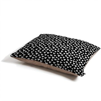 Elisabeth Fredriksson Little Hearts On Black Pet Bed