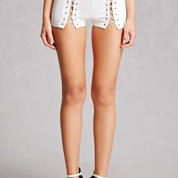 Lace-Up Grommet Shorts