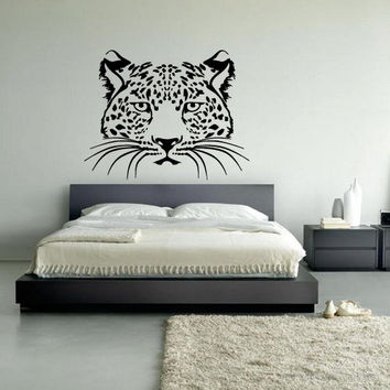 Wall decal vinyl art decor sticker design wild cat panther leopard puma jaguar lion animal speed living room mural (m1060)
