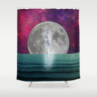 Passing Shadow Shower Curtain by Shawn King
