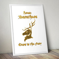House Baratheon, Game of Thrones - Printable Poster - Digital Art - Download and Print