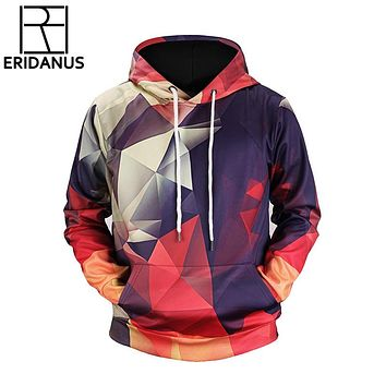 New Hooded Hoodies Men Women Color Blocks Fashion Hip-hop Sweatshirts Print Stripe Hoody Hoodies Casual