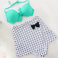 2 Pcs Bikini Tankini Set Women's Swimwear Bathing Suit P59