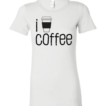 I COFFEE COFFEE - Bella Ladies Favorite Tee