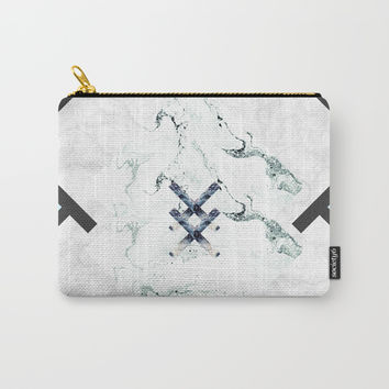 Scandinavian Marble Carry-All Pouch by cadinera