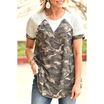 Every Little Step Top - Camo