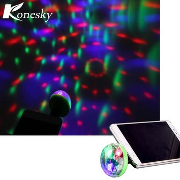 Mini 4-LED Disco Ball USB Powered Stage Light RGB Stage Decoration Projector Rotating Ball For Party Holiday Decor with Android