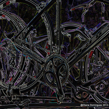Road Bikes -  8x10 Abstract Photography Print