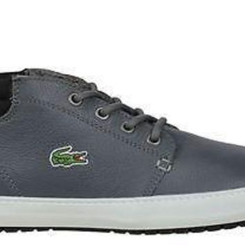 Lacoste Mens Shoes Ampthill Terra TWD2 Grey Black Leather