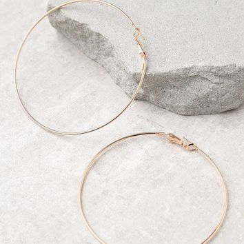 Radiant Days Rose Gold Hoop Earrings