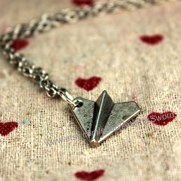 harry styles necklace paper plane jewelry vintage style steampunk jewelry antique gift