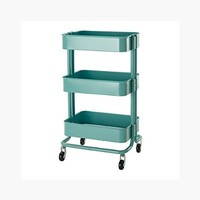RASKOG Home Kitchen Bedroom Storage Utility Cart Turquoise