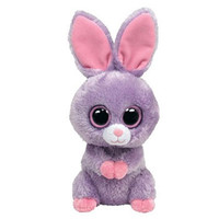 TY Beanie Boos - PETUNIA the Purple Bunny (Solid Eye Color) (Regular Size - 6 inch)