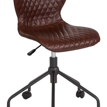 Somerset Home and Office Upholstered Task Chair in Brown Vinyl [LF-9-07-BRN-GG]