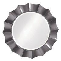 Howard Elliott Corona Glossy Charcoal Gray Mirror  - Howard Elliott 6018CH