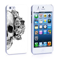 Skull With Flower iPhone 4s iPhone 5 iPhone 5s iPhone 6 case, Galaxy S3 Galaxy S4 Galaxy S5 Note 3 Note 4 case, iPod 4 5 Case