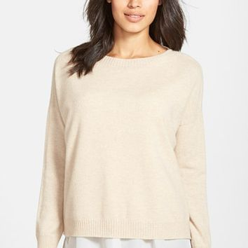 Women's Eileen Fisher Boxy Cashmere Sweater,