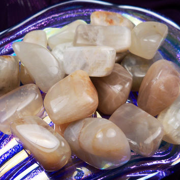 "MOONSTONE ""Goddess Stone"" Attune to Lunar Moon Cycles Balance Hormones Ease Childbirth PMS aka ""The Traveler's Stone"" Good Fortune Talisman"