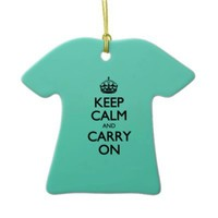 Acid Keep Calm And Carry On Mint Green Christmas Tree Ornament