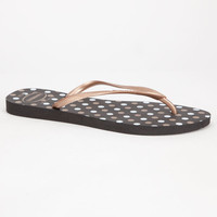 Havaianas Slim Fresh Womens Sandals Black Combo  In Sizes