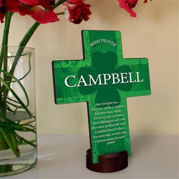 Irish Blessing Shamrock Cross Free Engraving