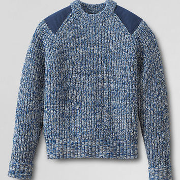 Men's Fisherman Shaker Crewneck Sweater from Lands' End