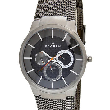Skagen 809XLTTM Men's Titanium Carbon Fiber Dial Quartz Watch