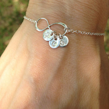 Personalized Infinity Bracelet - Hand Stamped Jewelry
