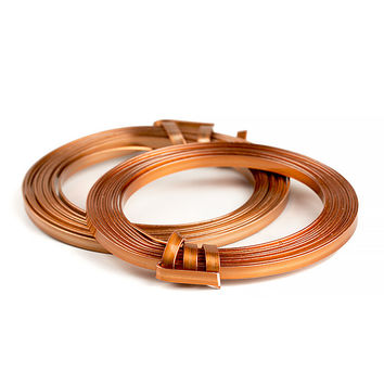 Flat Aluminum Florist Wire, 3 Yds, 2 Pack (Copper)