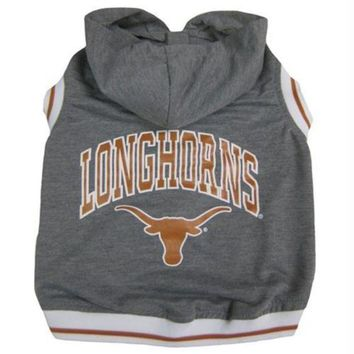 DCCKT9W Texas Longhorns Pet Hoodie Tee Shirt