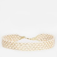 Limited Edition Faux Pearl Lattice Choker Necklace