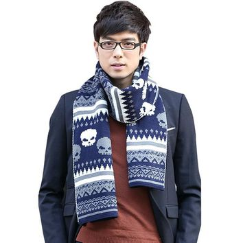 cashmere warm thick knitted scarf