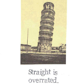 Straight Is Overrated Happy Pride Card | Funny LGBTQ Vintage Coming Out Humor