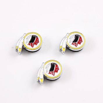 USA Football Washington Redskins Sports Slider Charms for Necklace and Bracelet Alloy Enamel Slide Charms for Jewelry Making