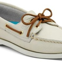 Sperry Top-Sider Authentic Original 2-Eye Boat Shoe IvoryLeather, Size 5.5M  Women's Shoes