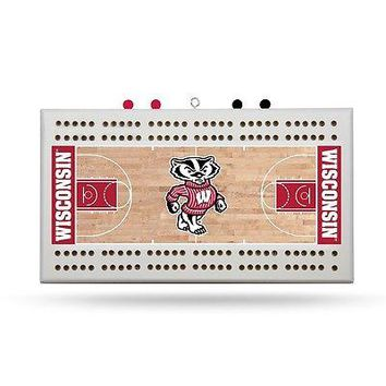 University of Wisconsin Badger Basketball Cribbage Board