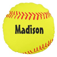 Custom Round Softball Pillow