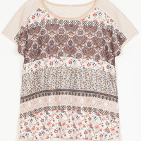 White Floral Printed T-shirt