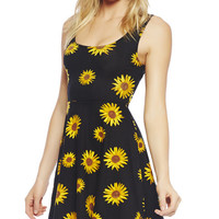 Sunflower Skater Dress | Wet Seal