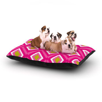 "Nicole Ketchum ""Moroccan Hot Pink Tile"" Dog Bed"
