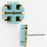 Tory Burch Large Logo Stud Earrings | Everything Turquoise